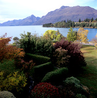 view from our rental home, queenstown