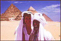sue with some geezer at giza