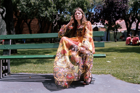 hippy chick, prahran, 1977