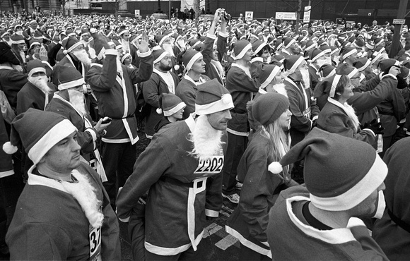 sea of santas, liverpool 2010