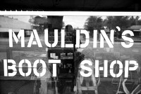 me reflected in mauldin's boot shop window, pecos, texas